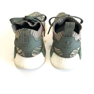 adidas Shoes - Women's Adidas NMD R1 Primeknit Camo Running Shoes